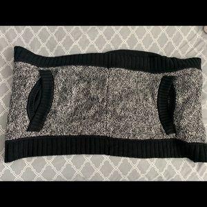 Auth. Lululemon Black/Grey Sweater Wrap